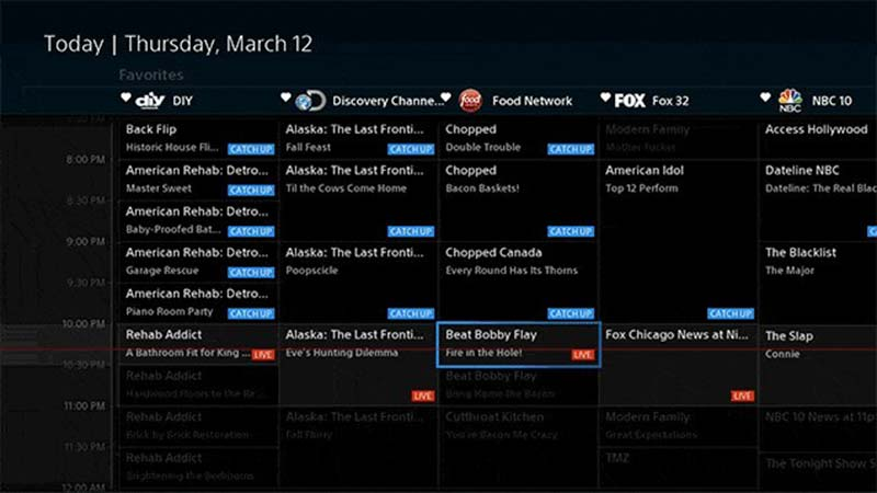 ps vue channel guide