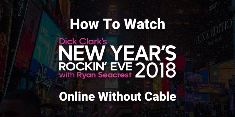 Have a rocking-chair New Year's Eve with stars on TV